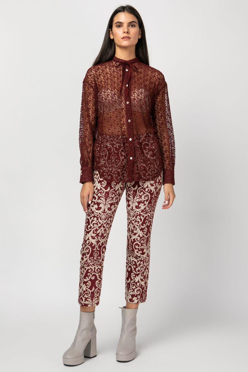 Shirt in plumetis lace