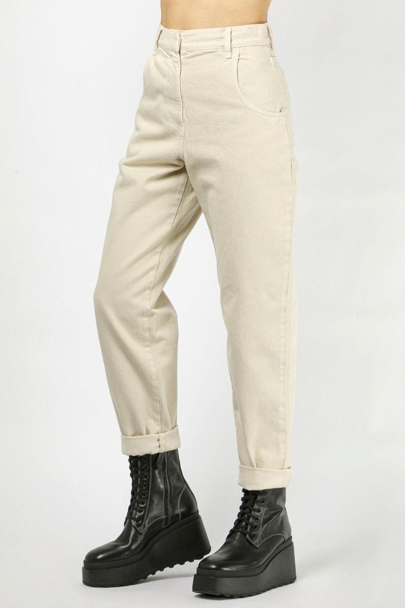 High-rise straight-leg denim pants