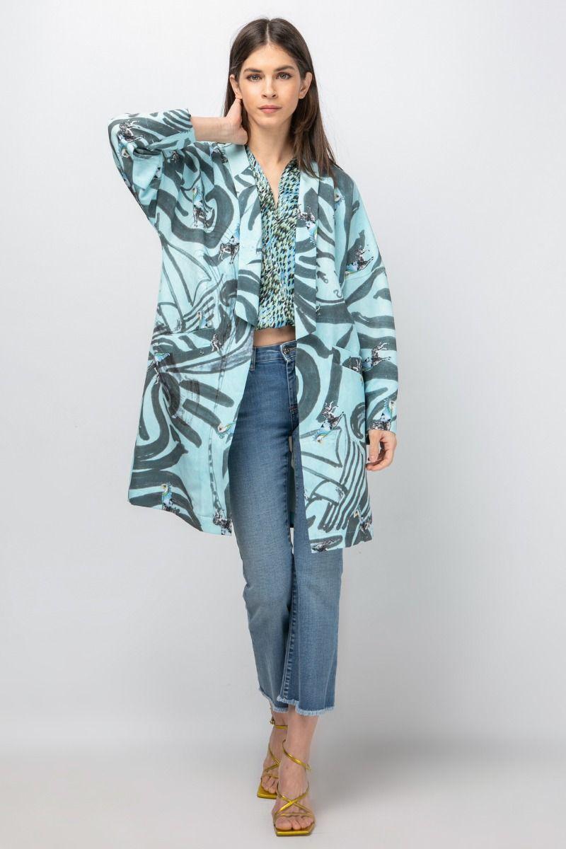 Oversized  printed light coat