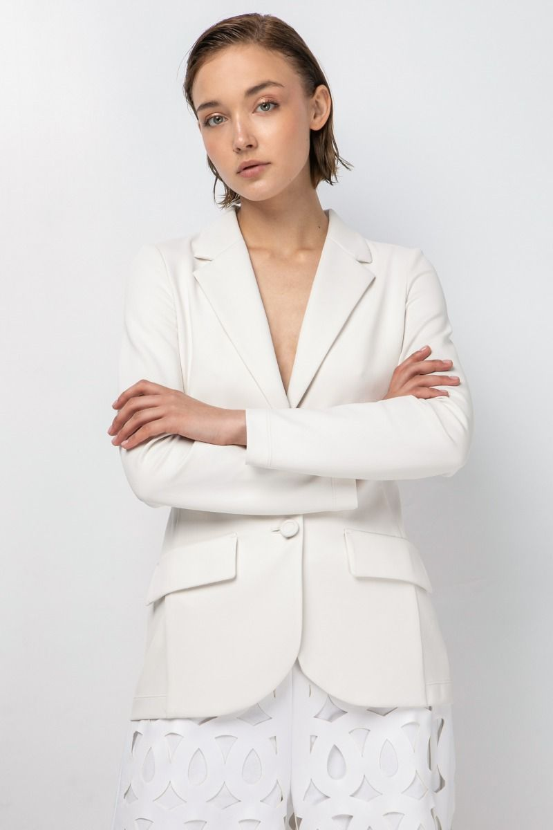 Sporty jacket in engineered stretchy jersey