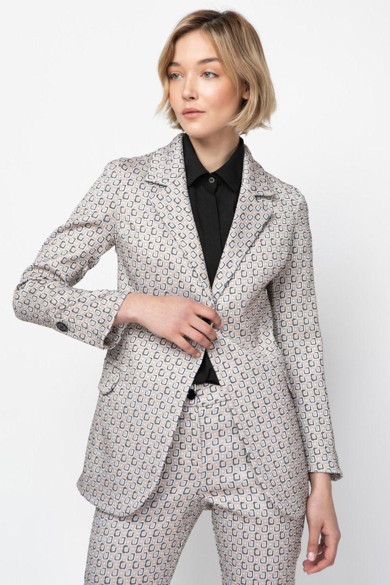 Floral -jacquard  blazer