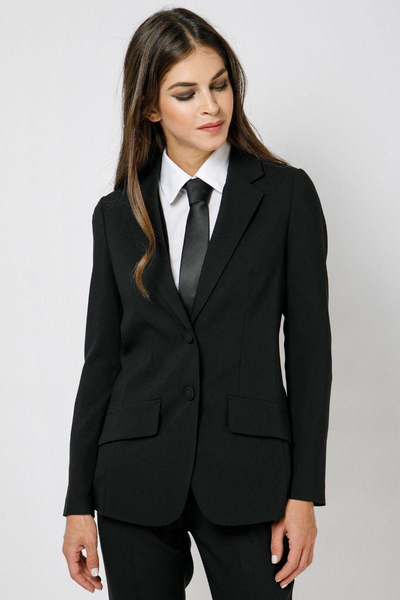 Black blazer in crepe