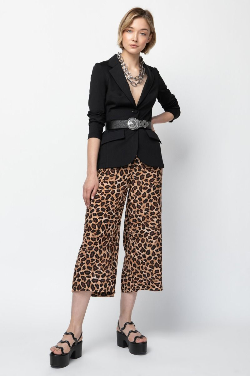 Culottes with animal print