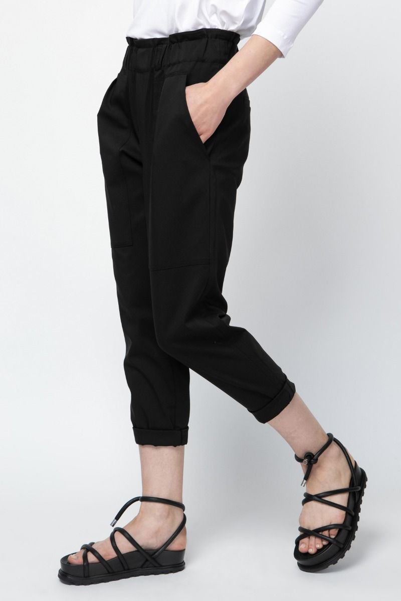 Cotton -blend tapered pants