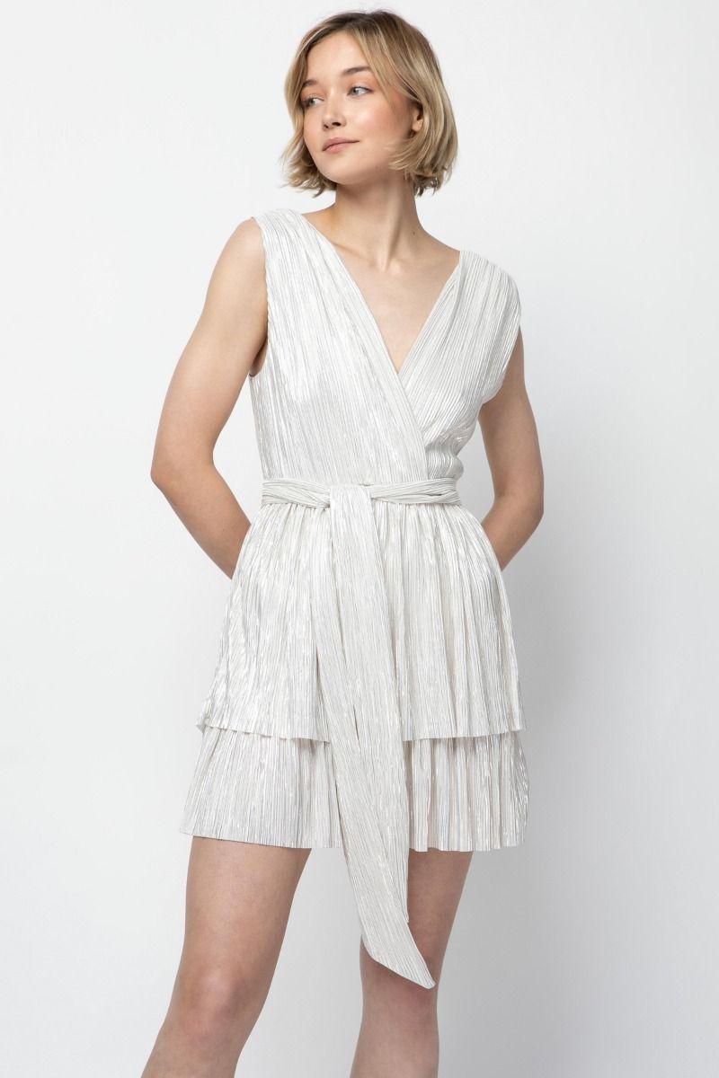 Mini lurex dress