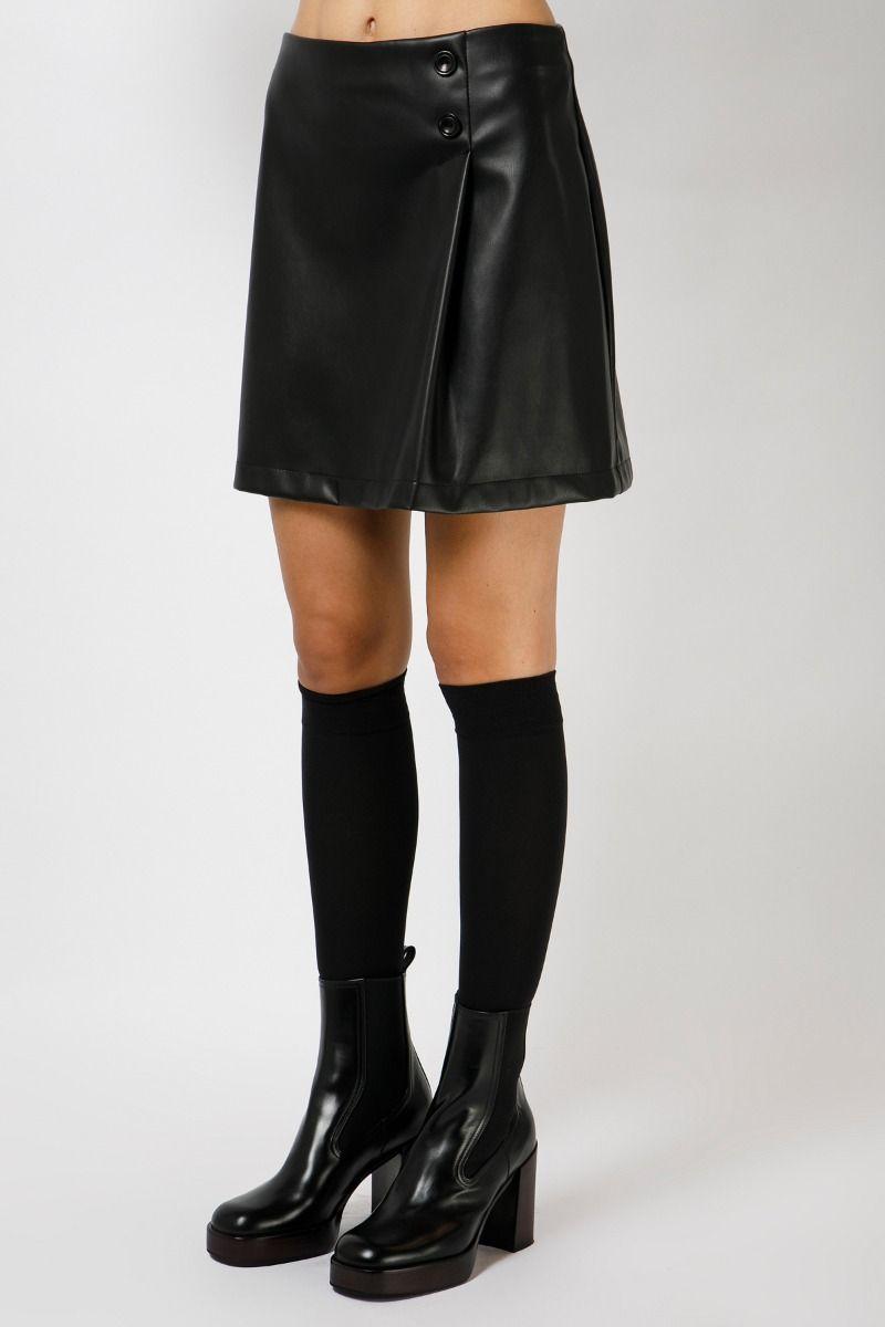 Μίνι φούστα από vegan δέρμα