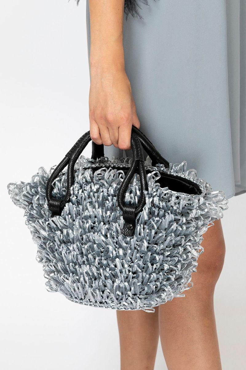 Handmade silver straw basket