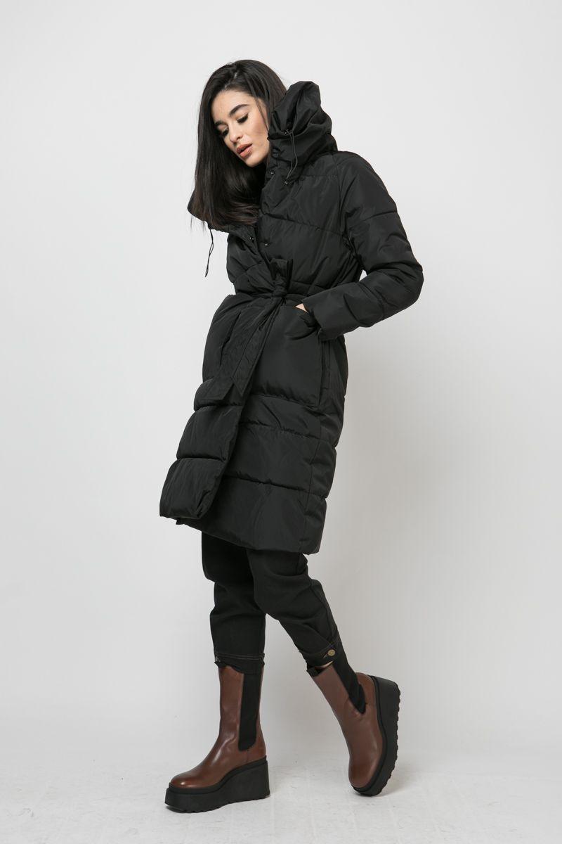 Quilted nylon coat