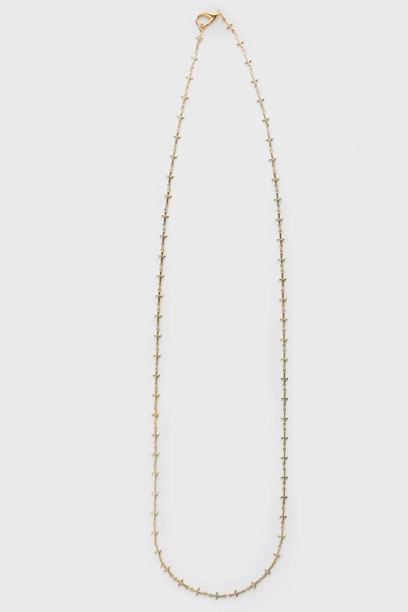 Necklace in gold-tone metal