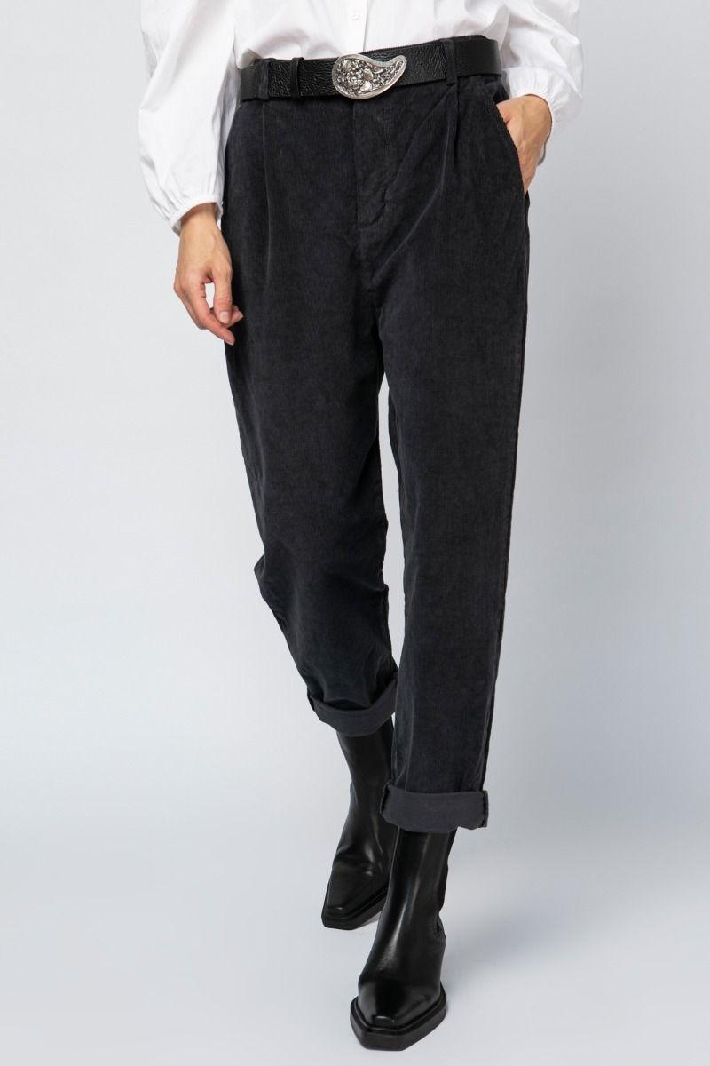 Cotton corduroy cropped pants