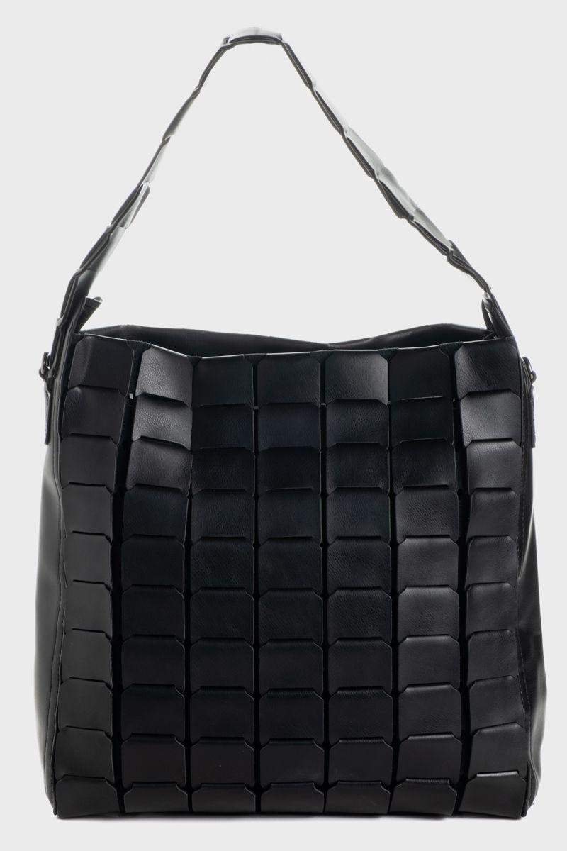 Large vegan-leather tote