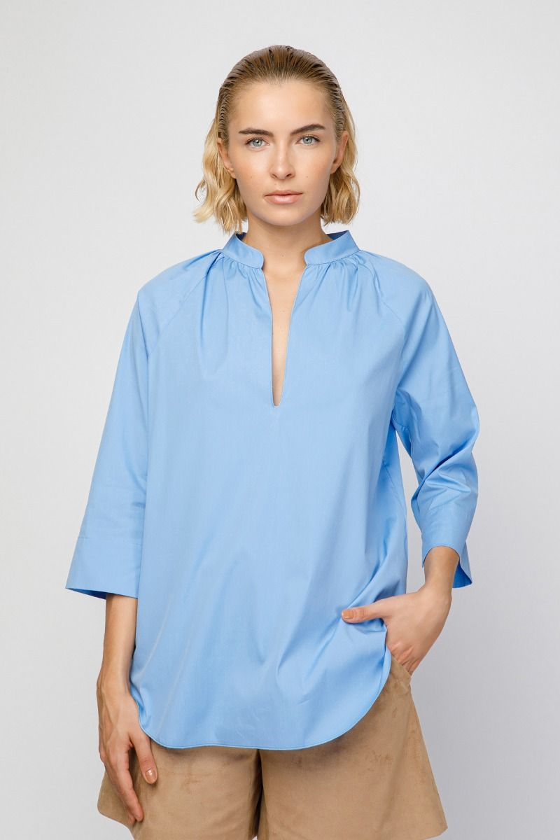 Cotton- poplin shirt