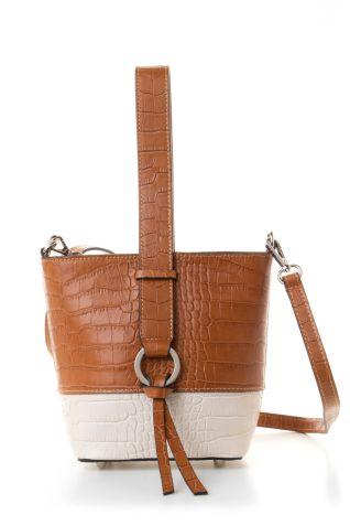 Δερμάτινη bucket τσάντα