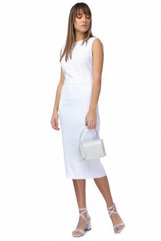 Λευκό φόρεμα  σε στενή γραμμή