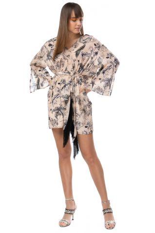 Μίνι φόρεμα από κρεπ ύφασμα