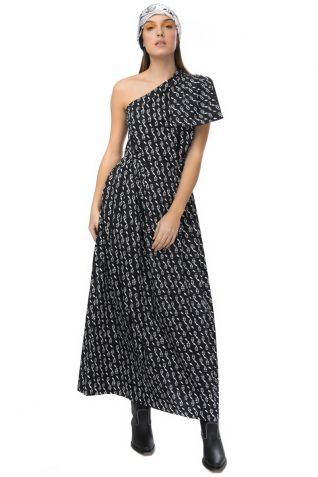 Μακρύ φόρεμα με έναν ώμο