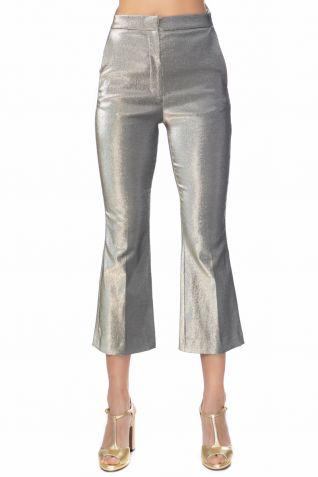Cropped παντελόνι με ψηλή μέση
