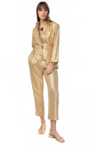 Golden linen Jumpsuit