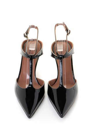 T-bar παπούτσια με χαμηλό τακούνι