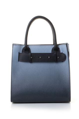 Tote δερμάτινη τσάντα σε ντεγκραντέ μπλε χρωματισμούς