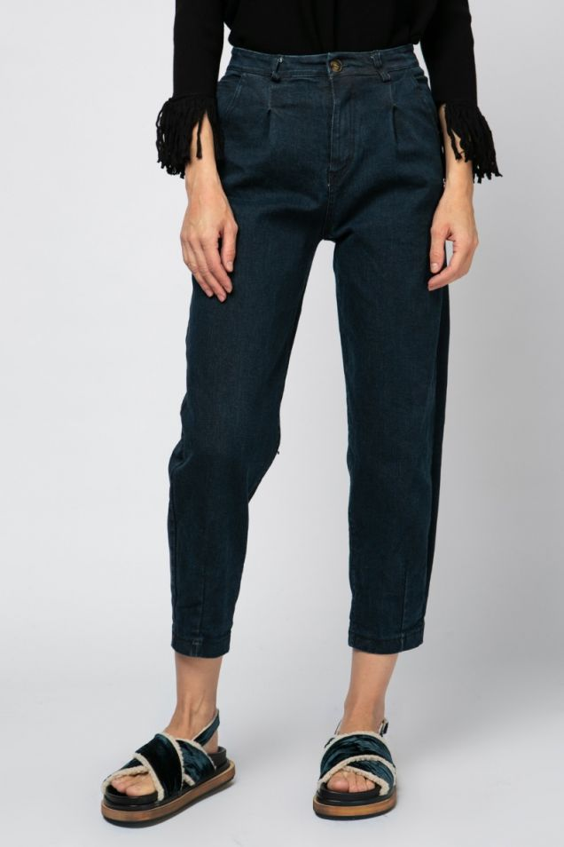 Jeans pleated trousers