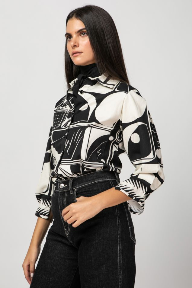 Black and white printed shirt