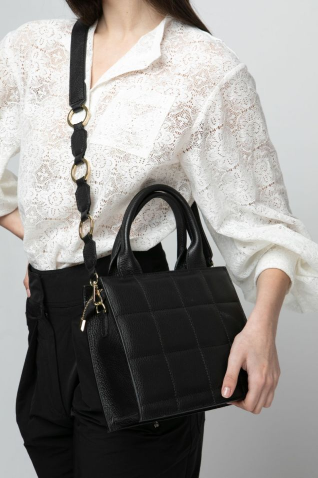 Mini  quilted tote bag