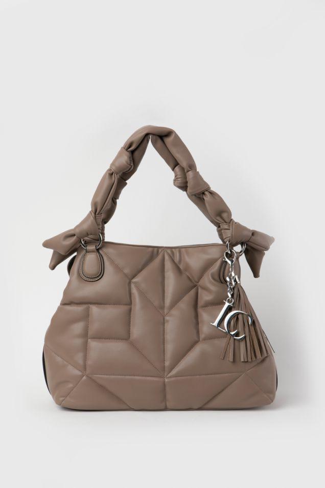 Shopper τσάντα σε  μπεζ χρώμα