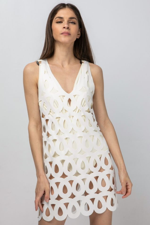 Tank top in stretchy fabric