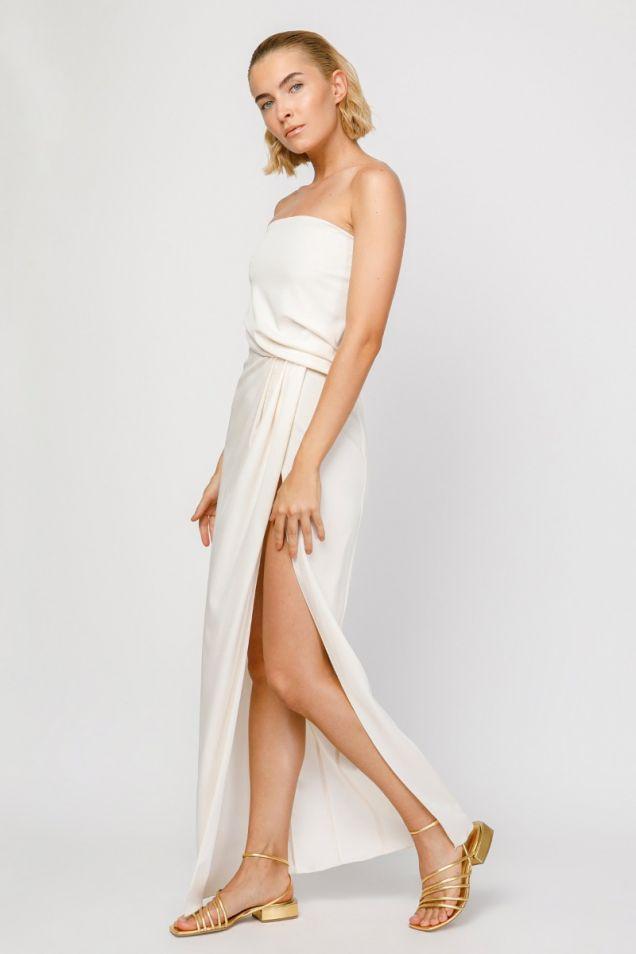 Μάξι στράπλες φόρεμα