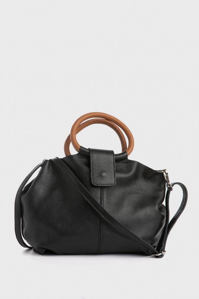 Mini black tote bag