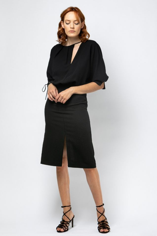 Black  cocktail dress with cutouts