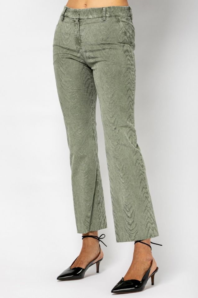 Velvet straight -leg  trousers