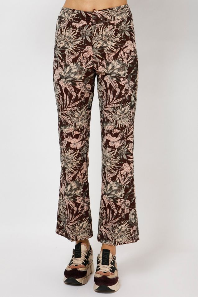 Cropped floral flared  pants