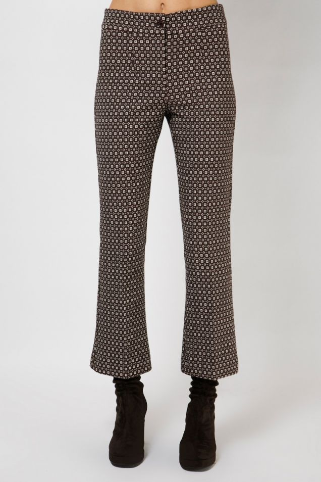 Jacquard cropped flared pants