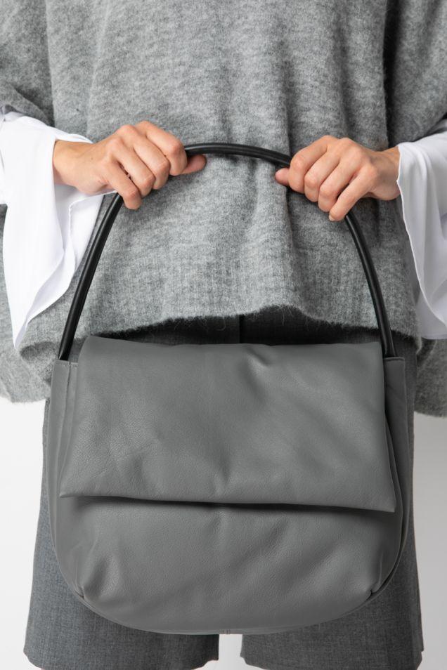 Foldover bag in grey