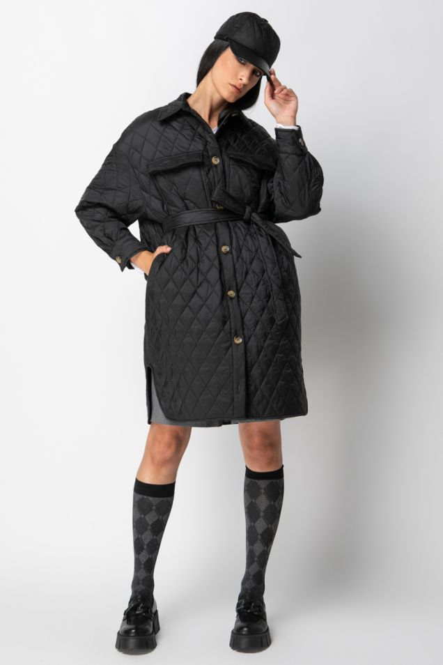 Quilted trench -coat
