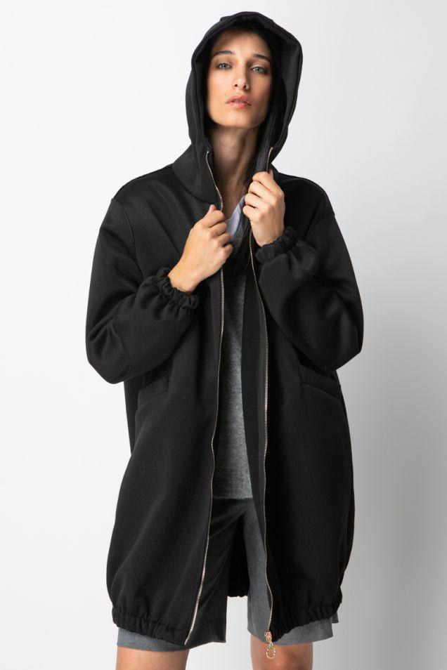 Long hoodie jacket