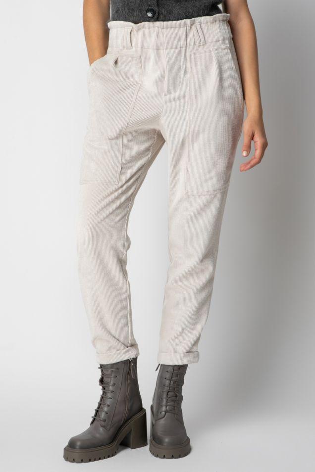 Corduroy track pants