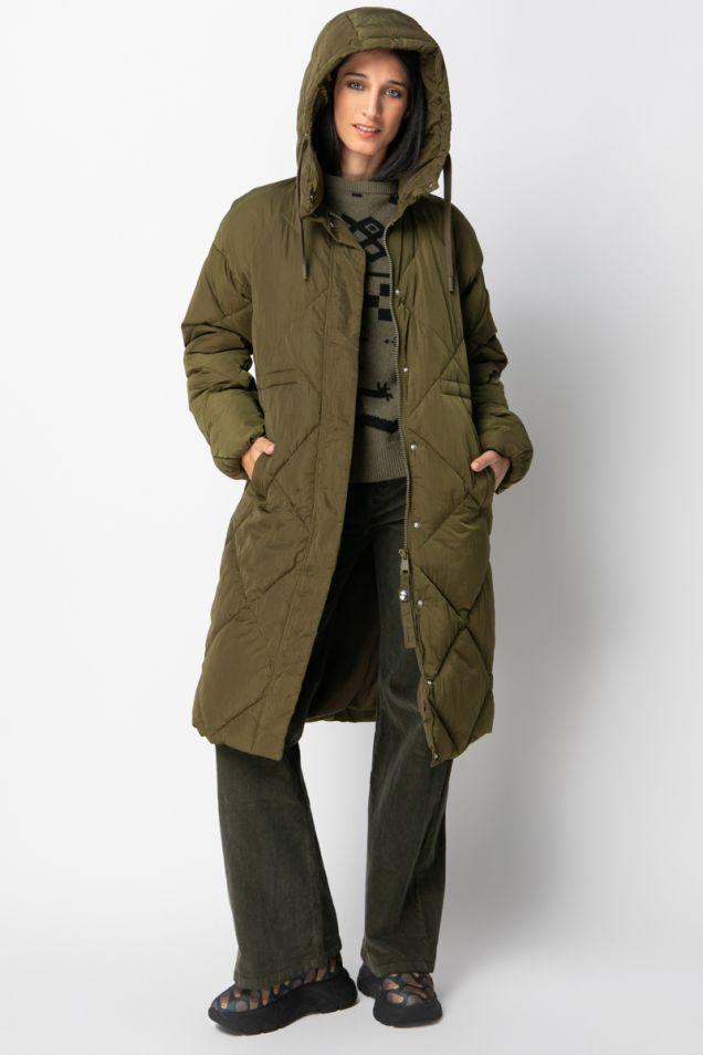 Oversized padded hooded coat