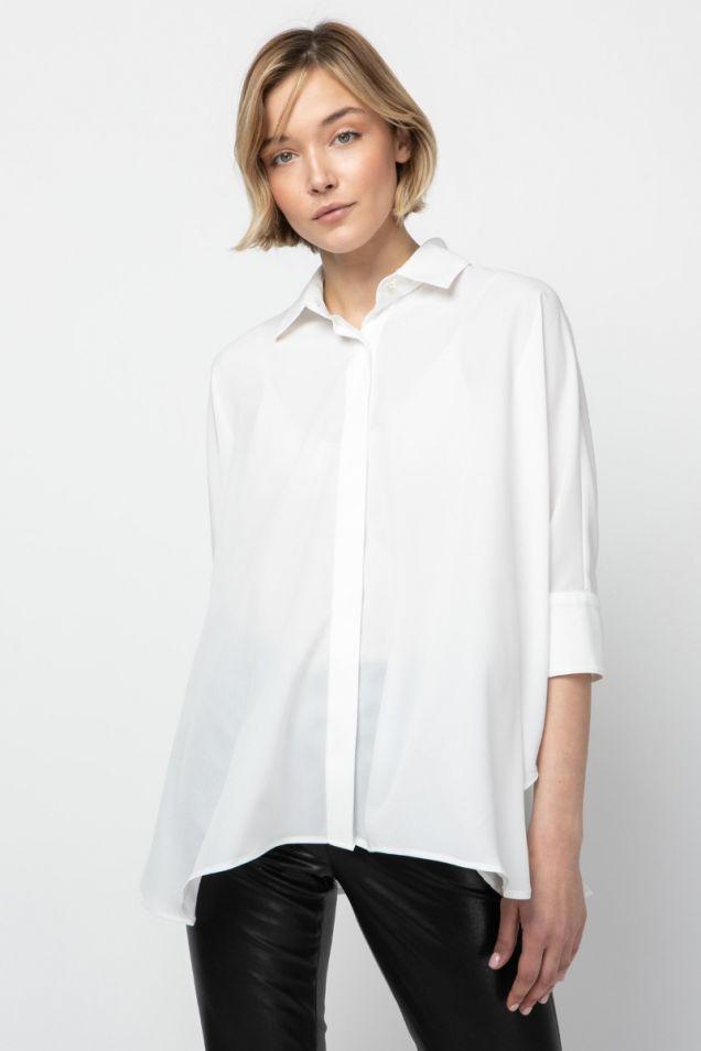 White shirt in a boxy shape
