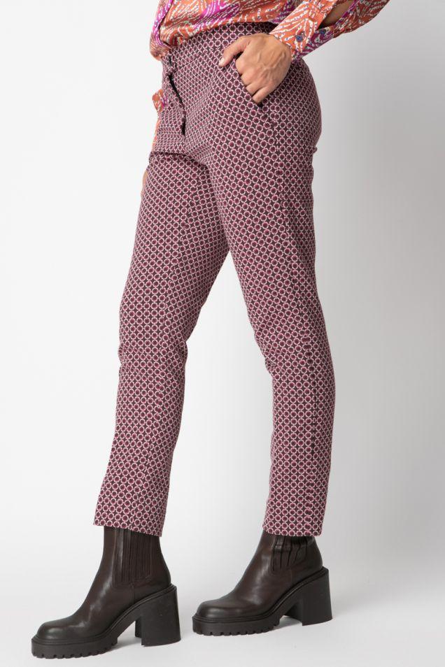 Printed  straight -leg pants