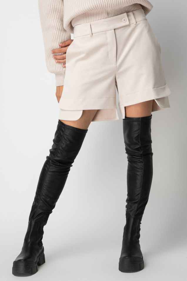 Off-white asymmetric shorts