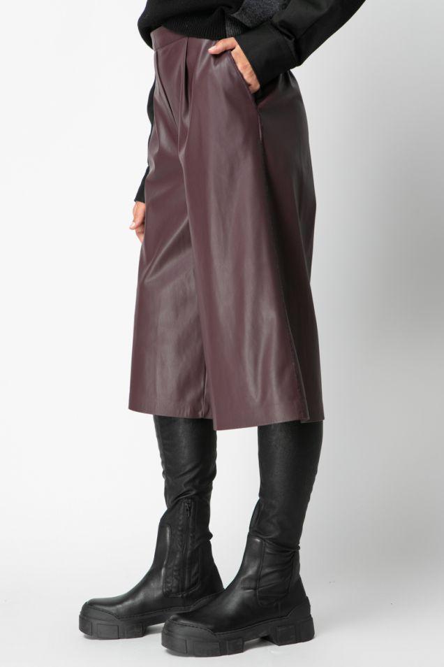 Vegan leather jupe -culotte