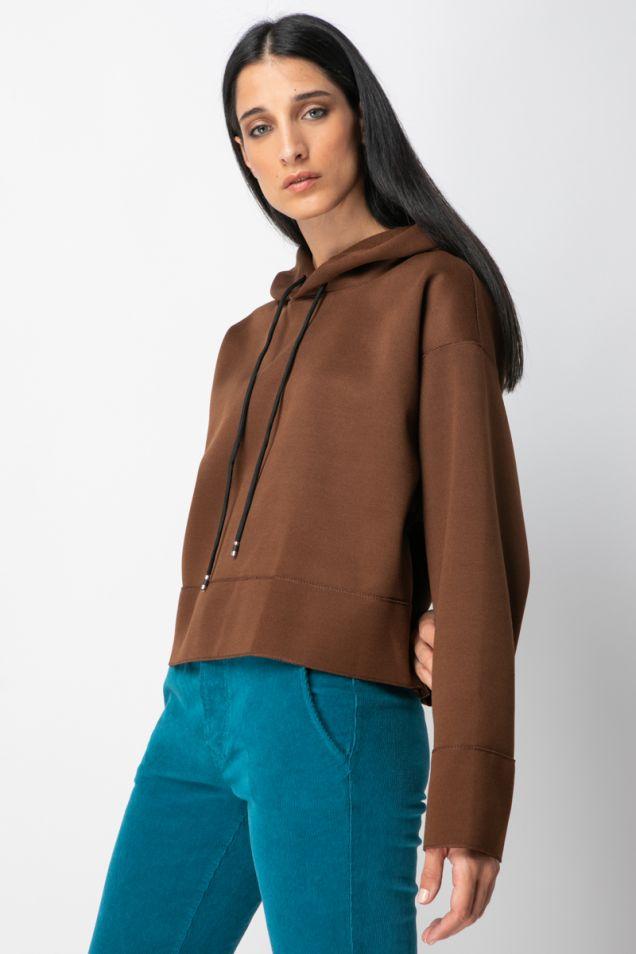 Hoodie cropped blouse
