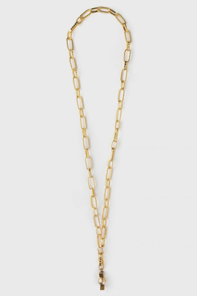 Necklace - belt in gold tone chain