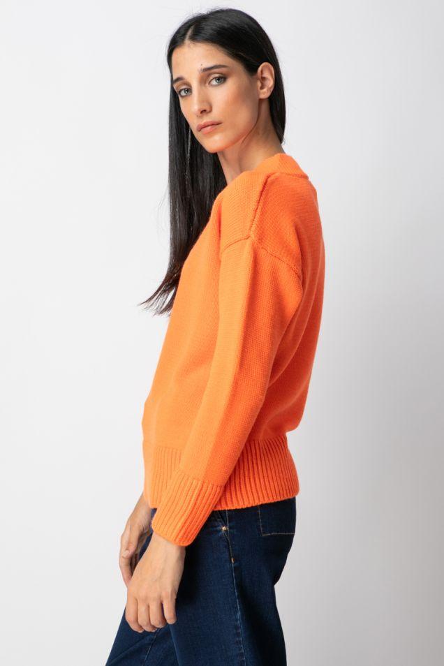 Sweater with V neckline