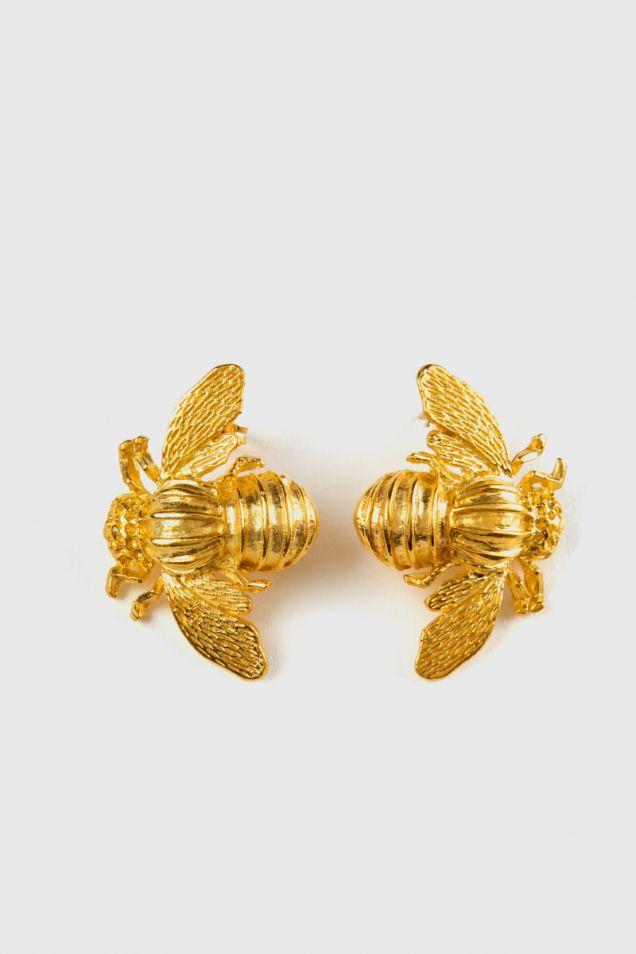 Bee Metal stud earrings