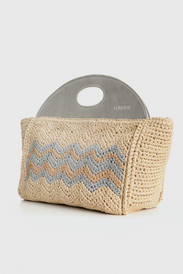 Crochet-knit tote