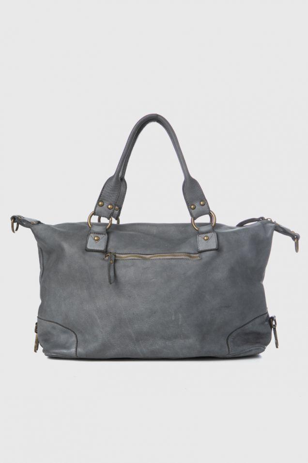 Tote bag in grey color